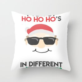 Christmas - I've got Ho Ho Ho's In Different Area Codes (Light) Throw Pillow