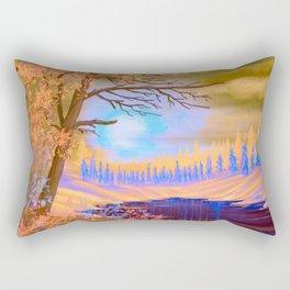 Vintage Winter Splendor Sunset Rectangular Pillow