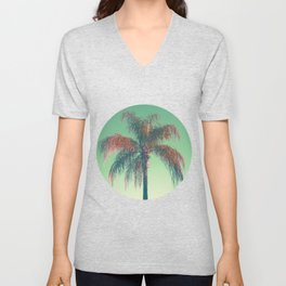 Red palm tree Unisex V-Neck