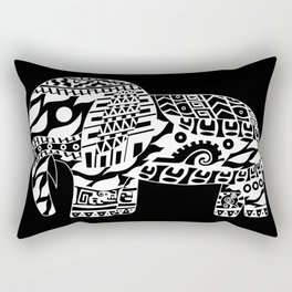 black elephant ecopop Rectangular Pillow