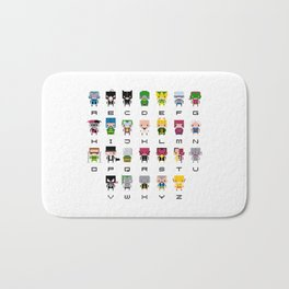 Pixel Supervillain Alphabet 2 Bath Mat