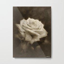 Pink Roses in Anzures 3 Antiqued Metal Print