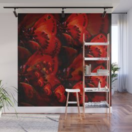 Inner Glow 4 Spiral Red Wall Mural