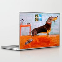 dachshund Laptop & iPad Skins featuring Dachshund by Caballos of Colour