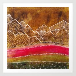 Lines in the mountains 01 Art Print