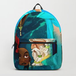 Grey Eyes Faux Poster Backpack