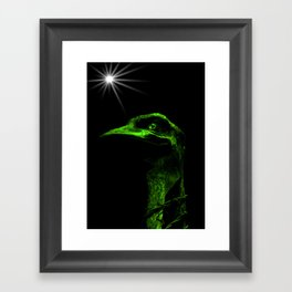 Mr Emu Framed Art Print