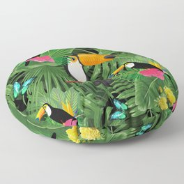 Toucan tropic Floor Pillow