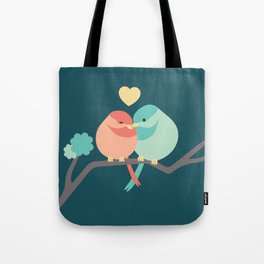 Lovebirds Two Tote Bag