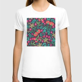 Asian-Inspired Happy Joy Colorful Floral Pattern T-shirt