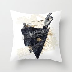 Back on the train Throw Pillow