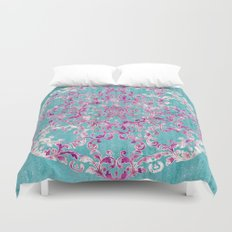 Reinventing A Taste of Lilac Wine Duvet Cover