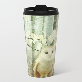 Winter Owl Metal Travel Mug