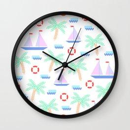 Mosaic summer 03 Wall Clock
