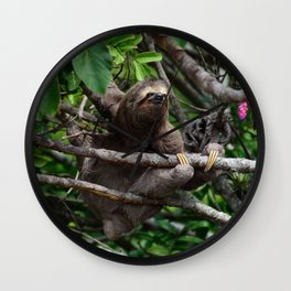 Sloth_20171106_by_JAMFoto Wall Clock