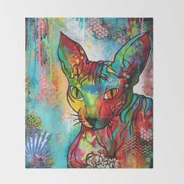 """Sphynx cat "" Throw Blanket"