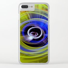 Space twirls Clear iPhone Case