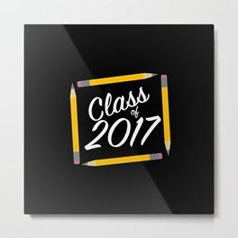 Class of 2017, white font Metal Print