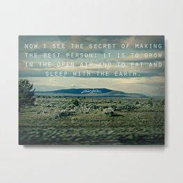 Whitman: Earth Metal Print