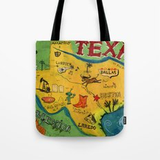 Postcard from Texas print Tote Bag