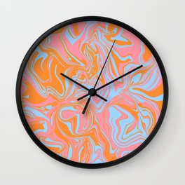 Psychedelic Sunrise Spill Wall Clock