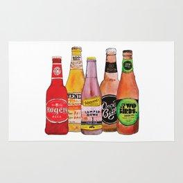 Bottles of Craft Beer Rug