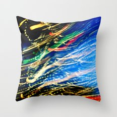 Christmas flying by Throw Pillow