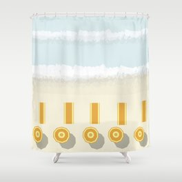 Colours at the beach Shower Curtain