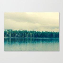 sleepy morning lake Canvas Print