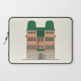 Brick house with towers Laptop Sleeve