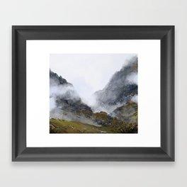 Nameless Mountains Framed Art Print