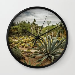 Succulents at Huntington Desert Garden No. 3 Wall Clock