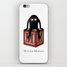 M is for Monster iPhone & iPod Skin