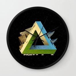 Impossible earth (penrose triangle) Wall Clock