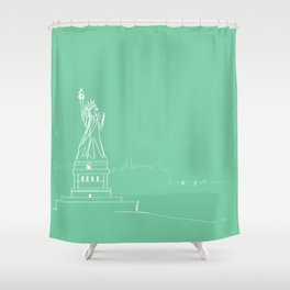 New York by Friztin Shower Curtain