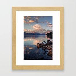 Lake Mcdonald Sunset - Glacier NP Framed Art Print