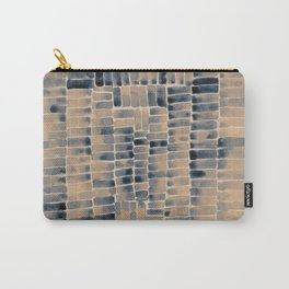 Watercolor abstract rectangles - neutral Carry-All Pouch