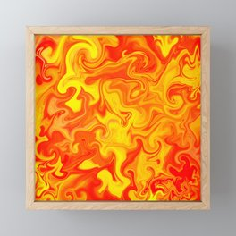Liquid Hot Lava Marbleized Pattern  Framed Mini Art Print
