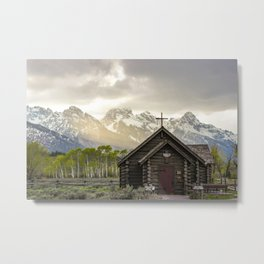 Even in the Storm Metal Print