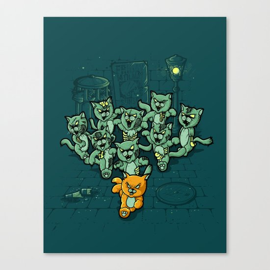Zombie Cats Canvas Print