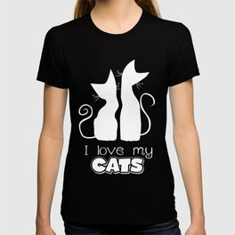 I Love My Cats (Darks) T-shirt