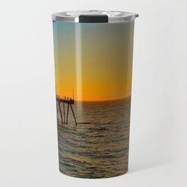 Huntington Beach Pier Sunset 1 Travel Mug