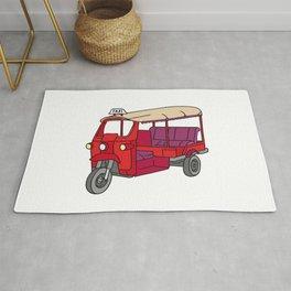 Red tuktuk / autorickshaw Rug