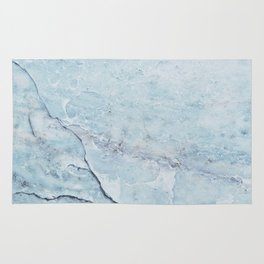 Light Blue Marble Rug