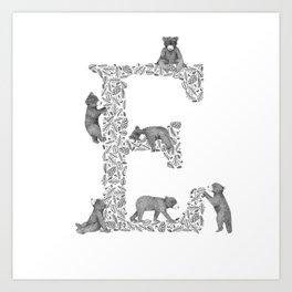Bearfabet Letter E Art Print