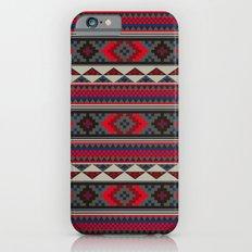 Navajo blanket pattern- red iPhone 6s Slim Case