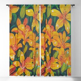 Daylilies in the Garden Blackout Curtain