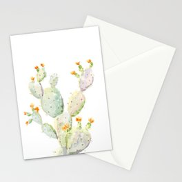 Prickly pear cactus. Opuntia Stationery Cards