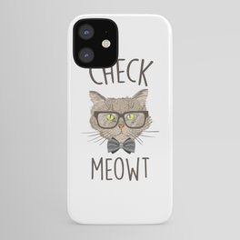 Check Meowt, Funny Cute Cat iPhone Case