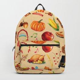 Thanksgiving Fall Autumn Pumpkin Turkey Backpack